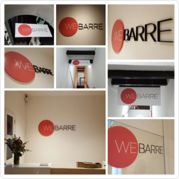 Signage for Webarre's second studio