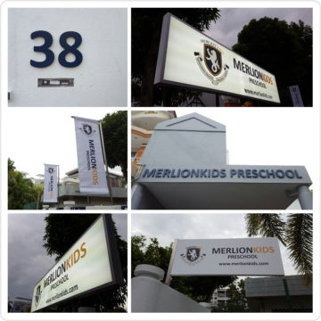 Branding Signages – Merlion Kids