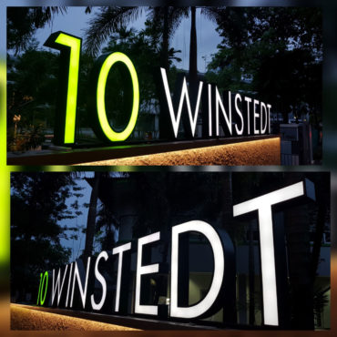 Outdoor Frontlit Channel Letters for 10 Winstedt