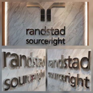 Reception Signage using BA Stainless Steel